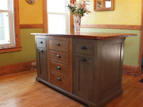 Handmade Kitchen Islands - handmade rustic kitchen island with wood top by rustique