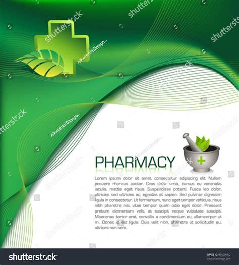 pharmacy brochure template stock vector illustration