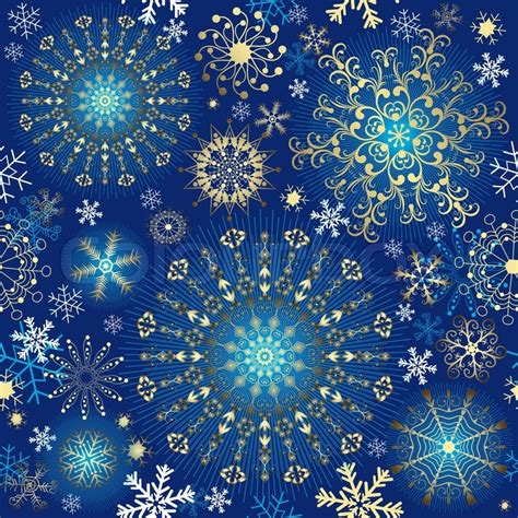 christmas pattern gold christmas blue effortless pattern with gold snowflakes and