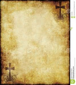 old parchment paper with cross stock photo image 19320800