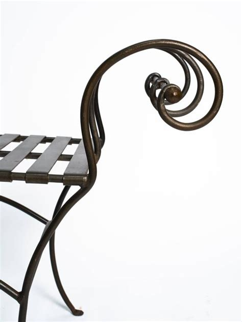 scroll arm bench classical scroll arm iron bench for sale at 1stdibs