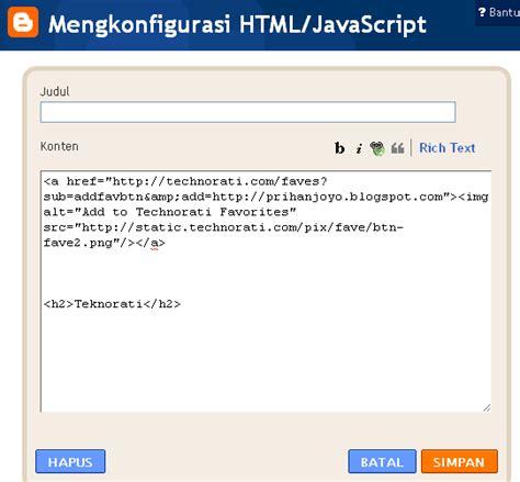 tutorial javascript pemula han s tutorial blogger pemula