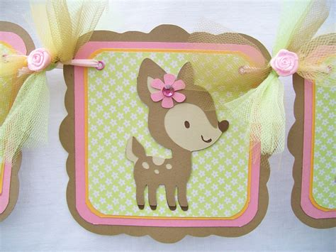 Woodland Animals Baby Shower Decorations by Forest Animals Woodland Animals Baby Shower Banner Its A