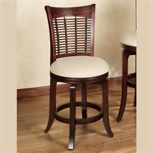 candrie rich mahogany finished counter stool