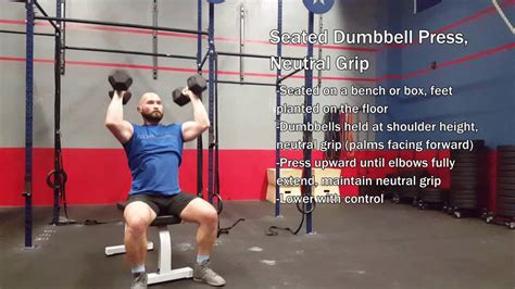 neutral grip dumbbell bench press seated dumbbell press neutral grip youtube