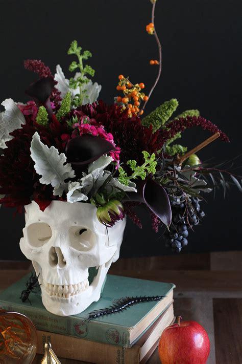 make centerpieces diy floral skull centerpiece