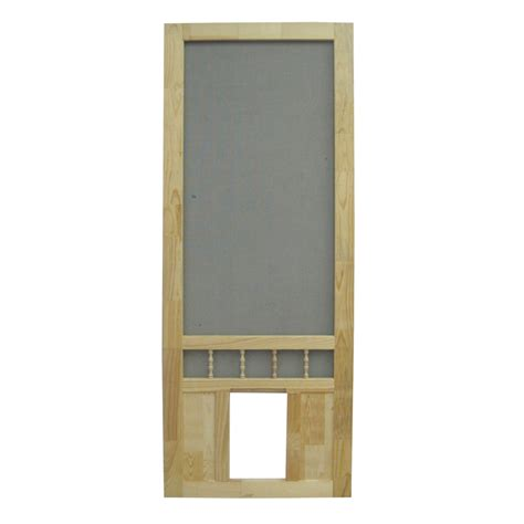 Doggie Doors Lowes by Shop Screen Tight Southport 36 In Wood Screen Door