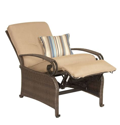 side by side recliners lake como combo two patio recliners and side table khaki