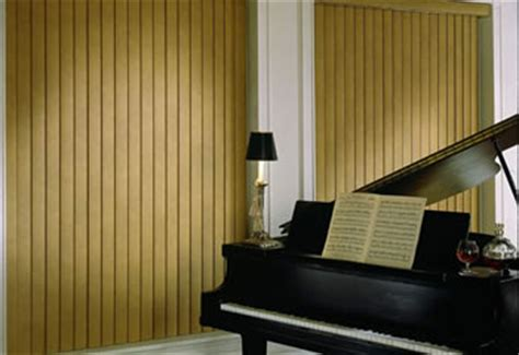 """3 ½"""" embossed faux wood vertical blinds 