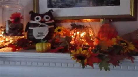 discount fall decorations cheap fall decor decorating fall mantel inexpensive