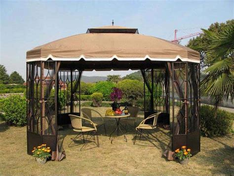 8x10 Outdoor Gazebo 8 X 10 Gazebo With Netting Gazeboss Net Ideas Designs