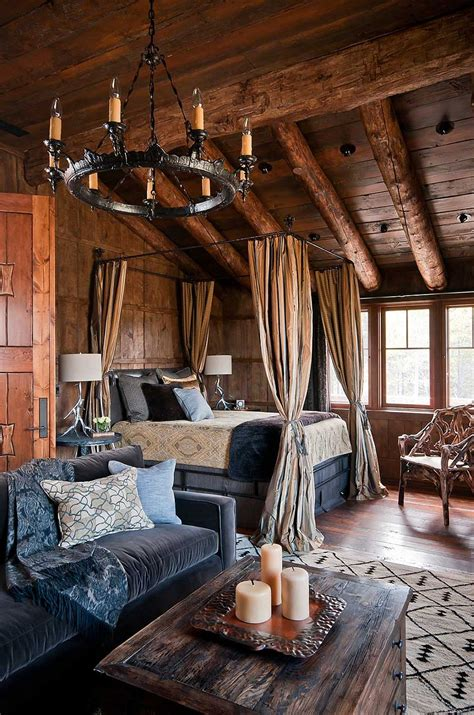 log cabin style bedroom dancing hearts picture perfect hillside escape in montana