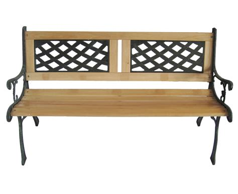 wrought iron bench wood slats outdoor wooden 3 seater lattice slat garden bench with