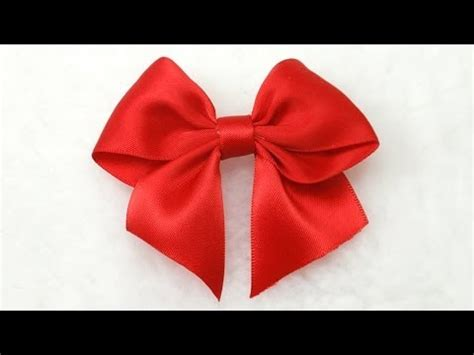 How To Make A Ribbon Bow Out Of Paper - make simple easy bow diy ribbon hair bow tutorial bow