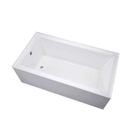 mirabelle bathtub mireds6030lwh edenton 60 x 30 soaking tub white at mirabelleproducts com