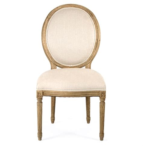 oval back dining room chairs pair madeleine french country natural linen oval back