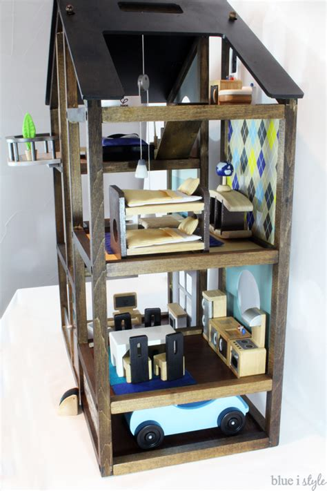 doll house makeover diy dollhouse makeover blue i style creating an organized pretty happy home