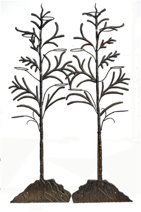 wrought iron trees antiques estate auction sunday