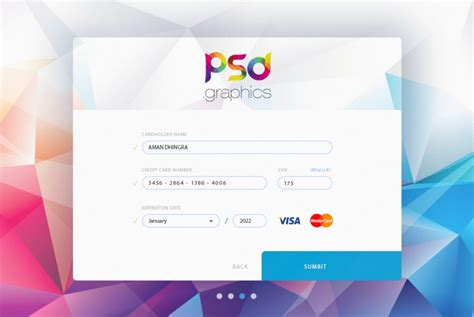 Credit Card Graphic Template Credit Card Form Ui Free Psd Graphics Psd Graphics
