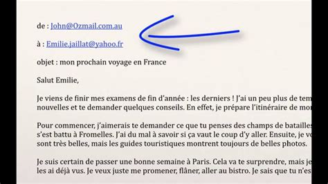email format in french writing an email french vce text types magic language