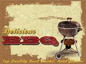 Backyard Bbq Vector Vintage Bbq Grill Illustration With Grunge Effect