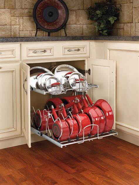 pull out pots and pans organizer home pinterest
