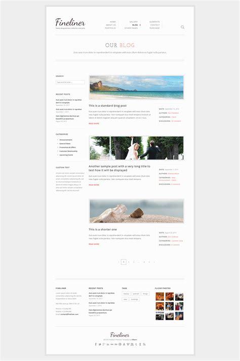 themeforest blog listing fineliner responsive portfolio wordpress theme by uxbarn