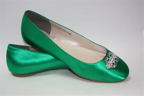 green flats shoes wedding shoes emerald green flat wedding shoe ballet