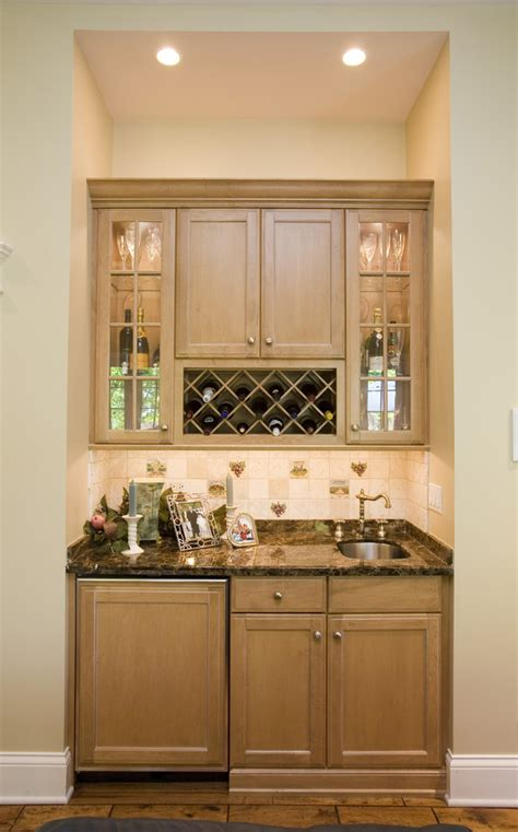 wet kitchen cabinet wet bar cabinets kitchen traditional with cabinet front refrigerator alcove