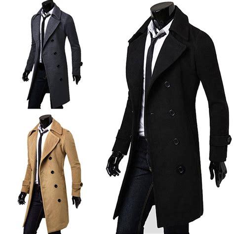 7 Stylish Trench Coats by Stylish Mens Slim Fit Trench Coat Winter Jacket