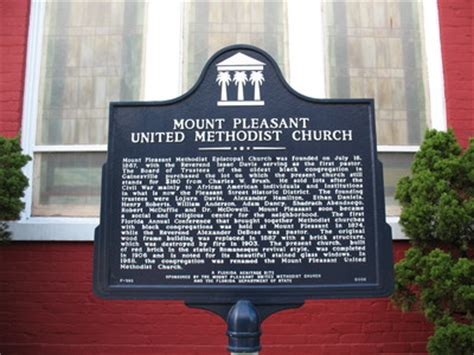 """mount pleasant united methodist church historical marker"