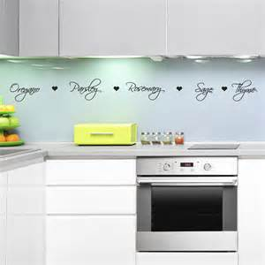 Home decor wall stickers herb names kitchen wall decal