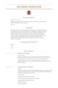 key account manager resume sles visualcv resume