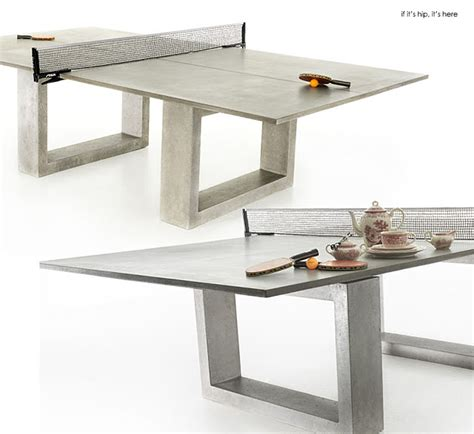 Ping Pong Table Dining Table Modern Concrete Steel Ping Pong Table Doubles As Indoor Outdoor Dining Table If It S Hip