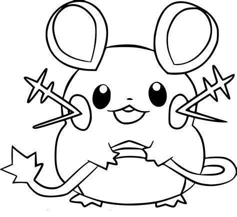 pokemon coloring pages dedenne pokemon dedenne images pokemon images