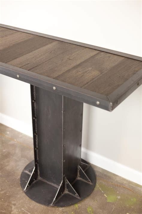 modern steel furniture buy a custom console table sofa side table vintage industrial desk modern reclaimed