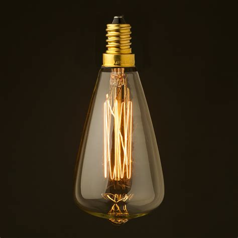 small edison light bulbs vintage small edison teardrop filament bulb e14