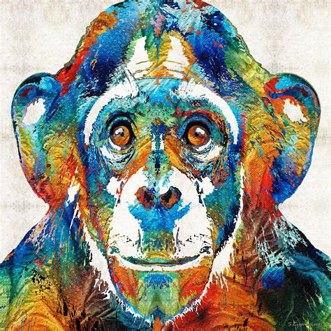 image gallery monkey paintings