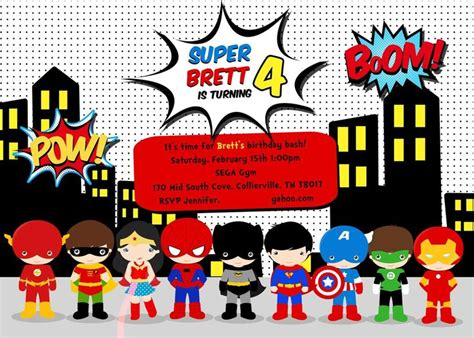 25 best ideas about superhero invitations on pinterest