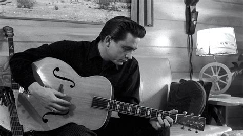 play acoustic guitar like johnny cash country guitar from the archives the voice of everyman in black la times