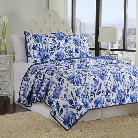 blue flower comforter set white and blue floral bedding and other beautiful print design