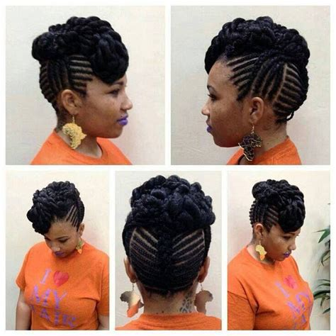 updo braid on my twa 136 best marley braid hair styles images on pinterest