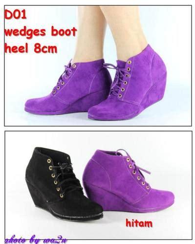 Sepatu Boots Circle Warna Hitam dinomarket pasardino sepatu boot