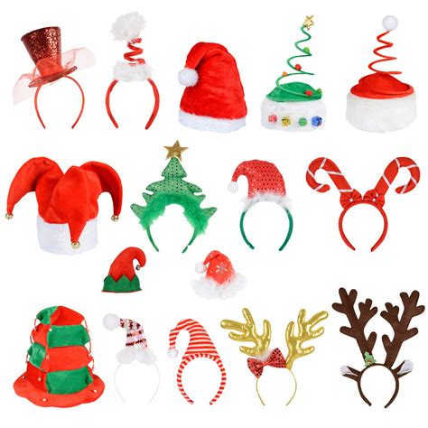 adults unisex festive christmas santa elf reindeer xmas