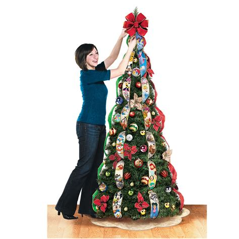 brylane pop up christmas tree pre lit decorated pull up trees www indiepedia org