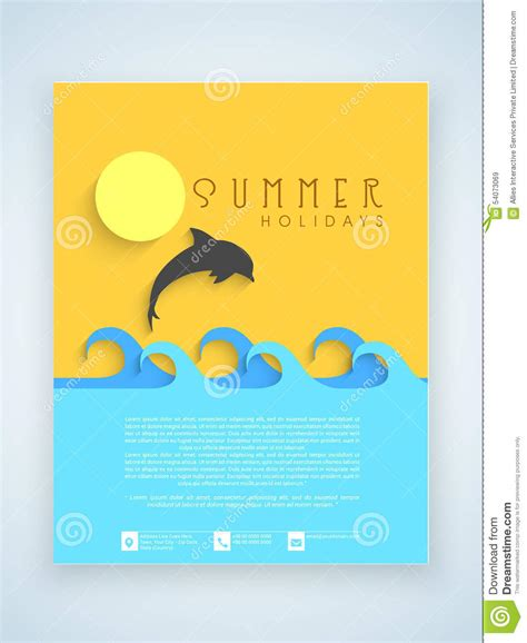 summer c brochure template free flyer template or brochure design for summer holidays