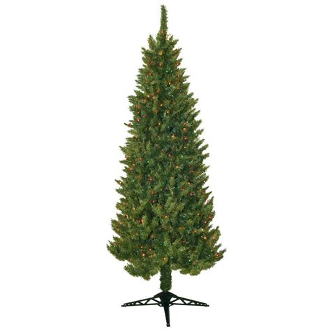 pre lit multi colored tree general foam 7 ft pre lit slender spruce artificial