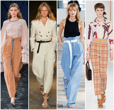 biggest trends of spring 2018 fashion magazine spring 2018 runway fashion trend high waisted trousers