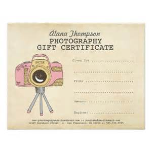 personalized gift certificate template photographer photography gift certificate template gift
