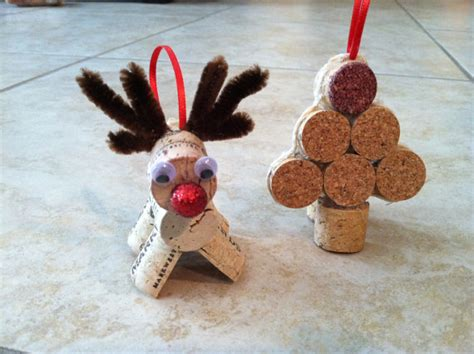 items similar to wine cork christmas ornaments reindeer